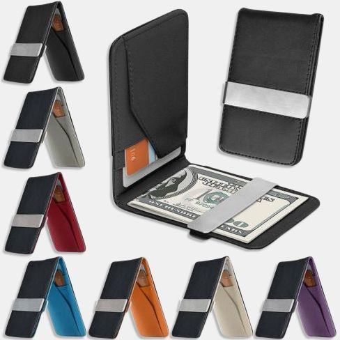 Stainless Steel Purse ID Cash Holder Money Clip For Men/'s Accessories Wallet
