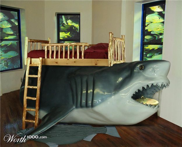 Beau Quinns Fav Movie Is Jaws!!! And He Has Tons Of Shark Toys.....he Would LOVE  THIS.....weirdo!! :)
