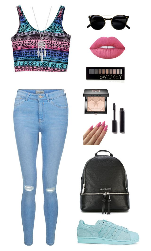 """""""Sans titre #32"""" by innnes ❤ liked on Polyvore featuring New Look, adidas Originals, MICHAEL Michael Kors, Lucky Brand, Givenchy, Forever 21, Chanel and Lime Crime"""