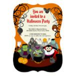 Fun cartoon Halloween monster costume party group Card #halloween #happyhalloween #halloweenparty #halloweenmakeup #halloweencostume
