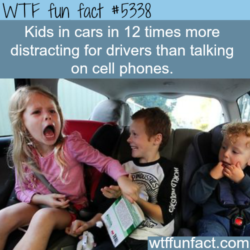 kids are more distracting than talking on cell phones wtf fun facts