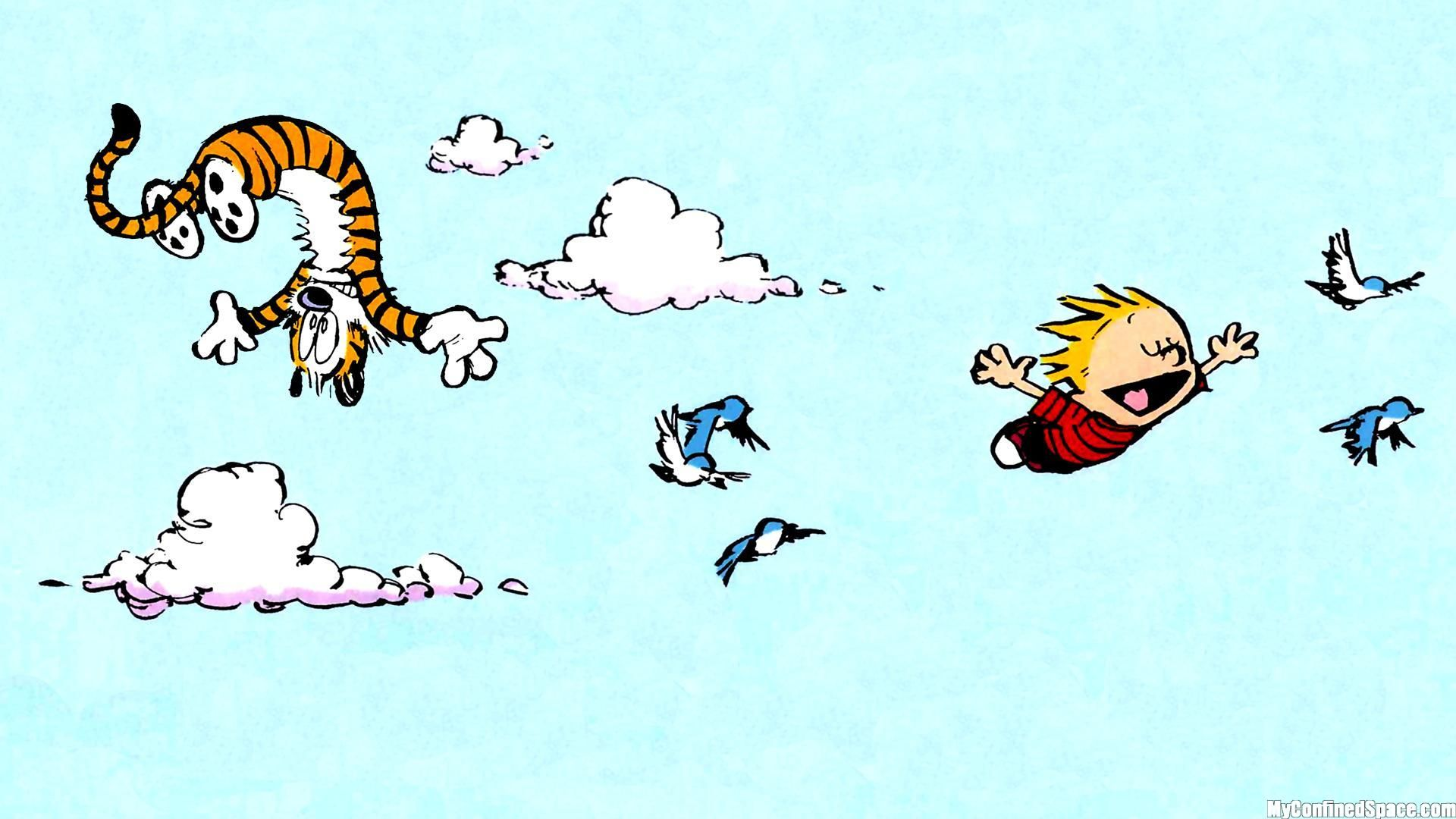 Calvin And Hobbes Flying Myconfinedspace In 2019