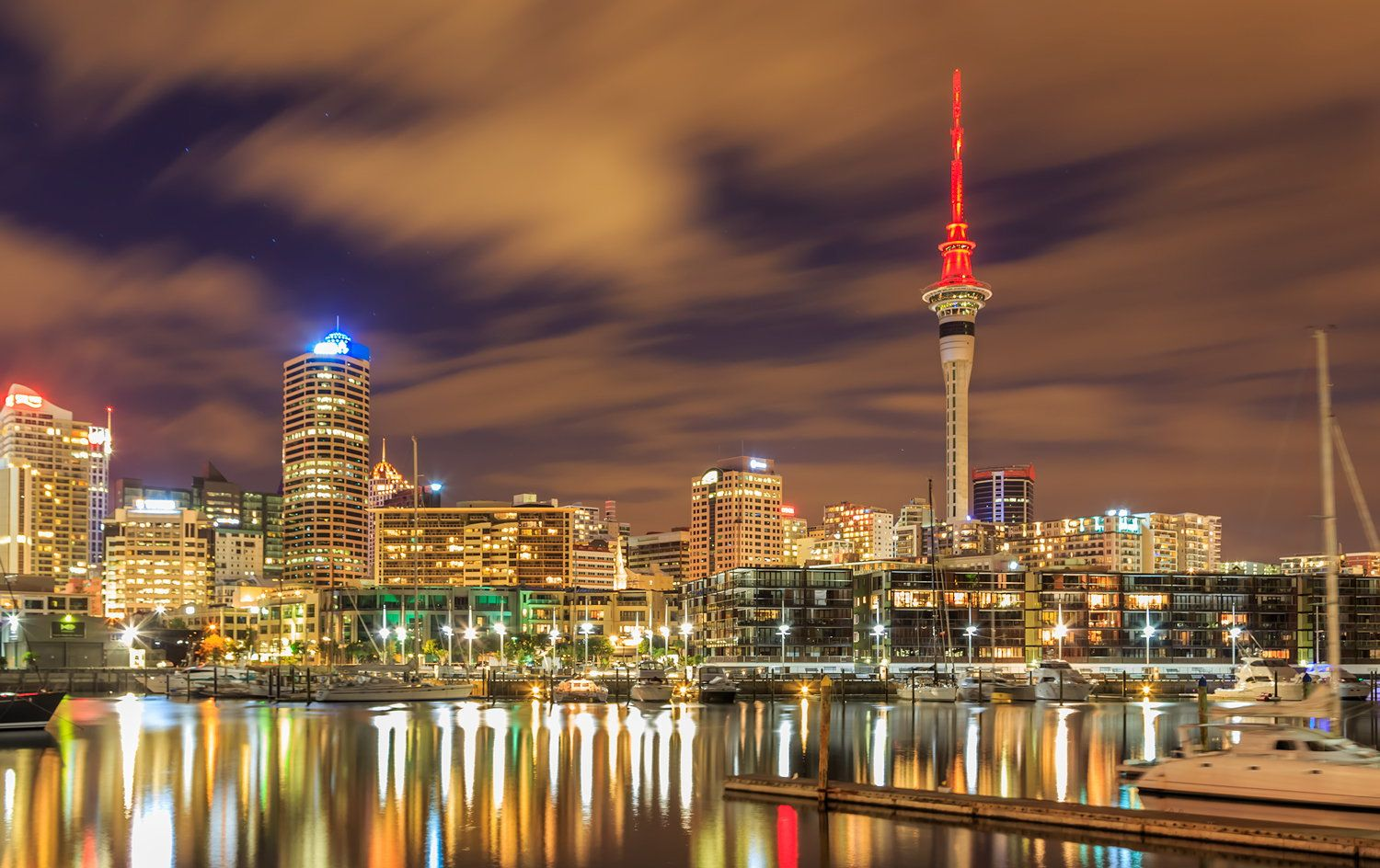 Night Time in Auckland City by Nattawut Andaris on 500px