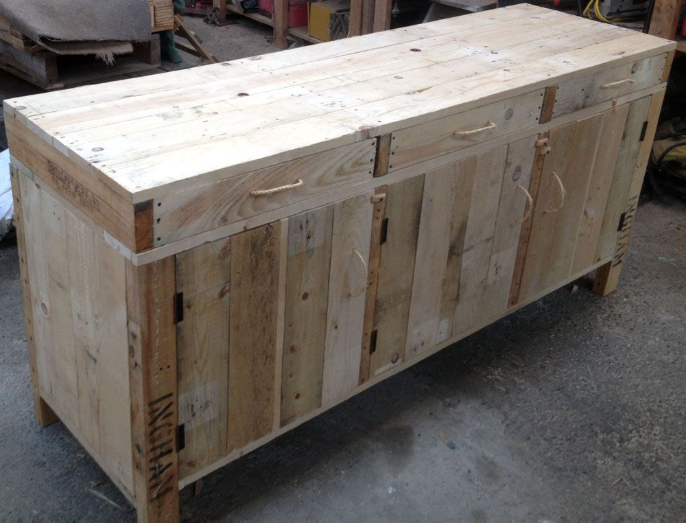 Side board Buffet made from pallets by industrial design