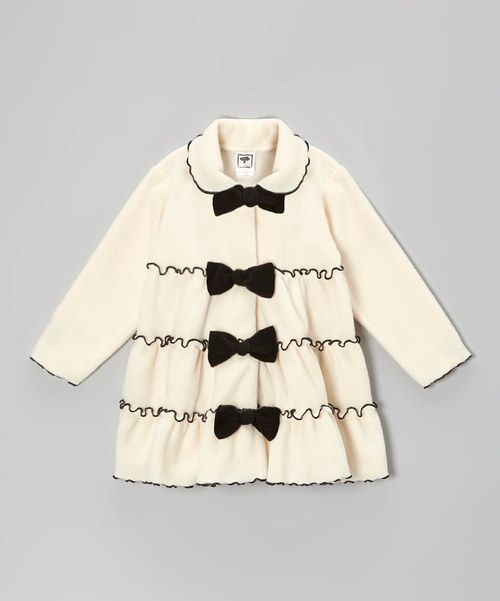 Take a look at this Cream Tiered Bow Jacket - Infant, Toddler & Girls on zulily today!