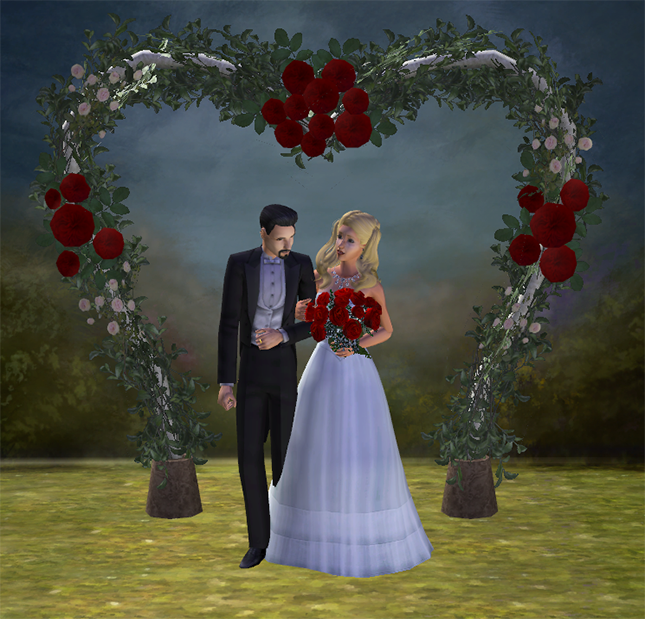 this is a recolor of the sims 3 wedding arch swetoslawna converted