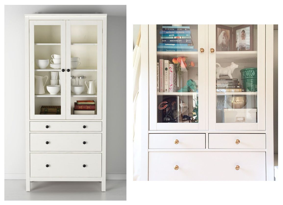 Ikea | HEMNES Glass-Door Cabinet with 3 Drawers | $395 {Emily Ley ...