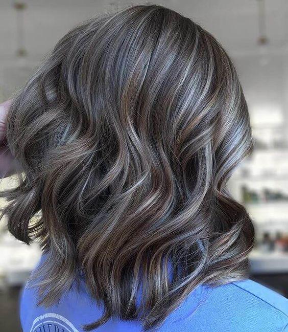 Heavenly Blonde And Gray Blending Blending Gray Hair Hair Color Ideas For Brunettes Short Hair Styles