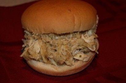 Shredded Hot Chicken Sandwiches Recipe Chicken Sandwich Shredded Chicken Sandwiches
