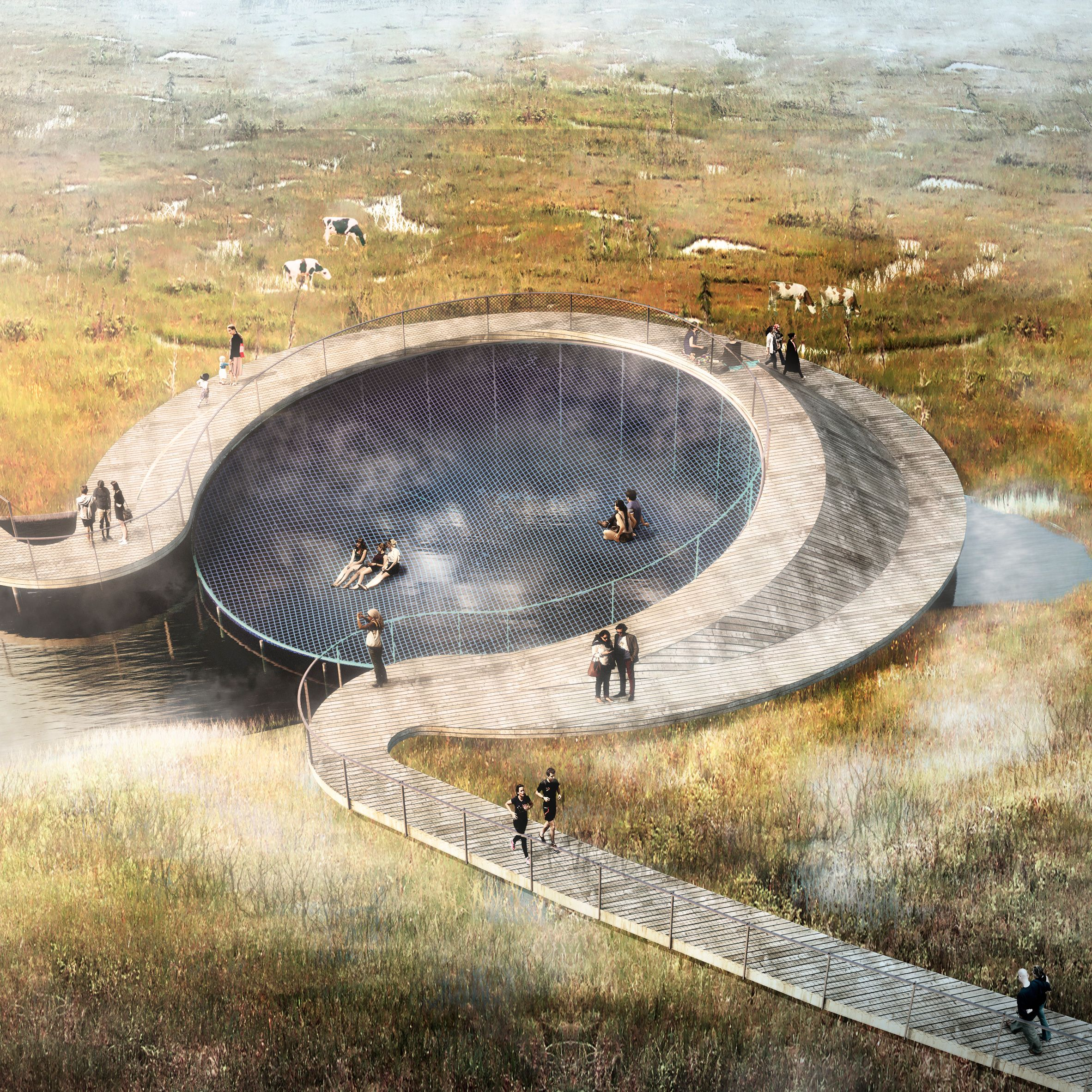 A new hybrid flood defence system by CF Møller in Denmark will combine urban…