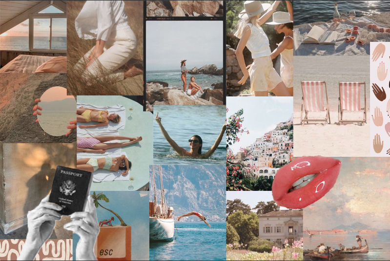 beachy collage | Aesthetic desktop wallpaper, Imac ...
