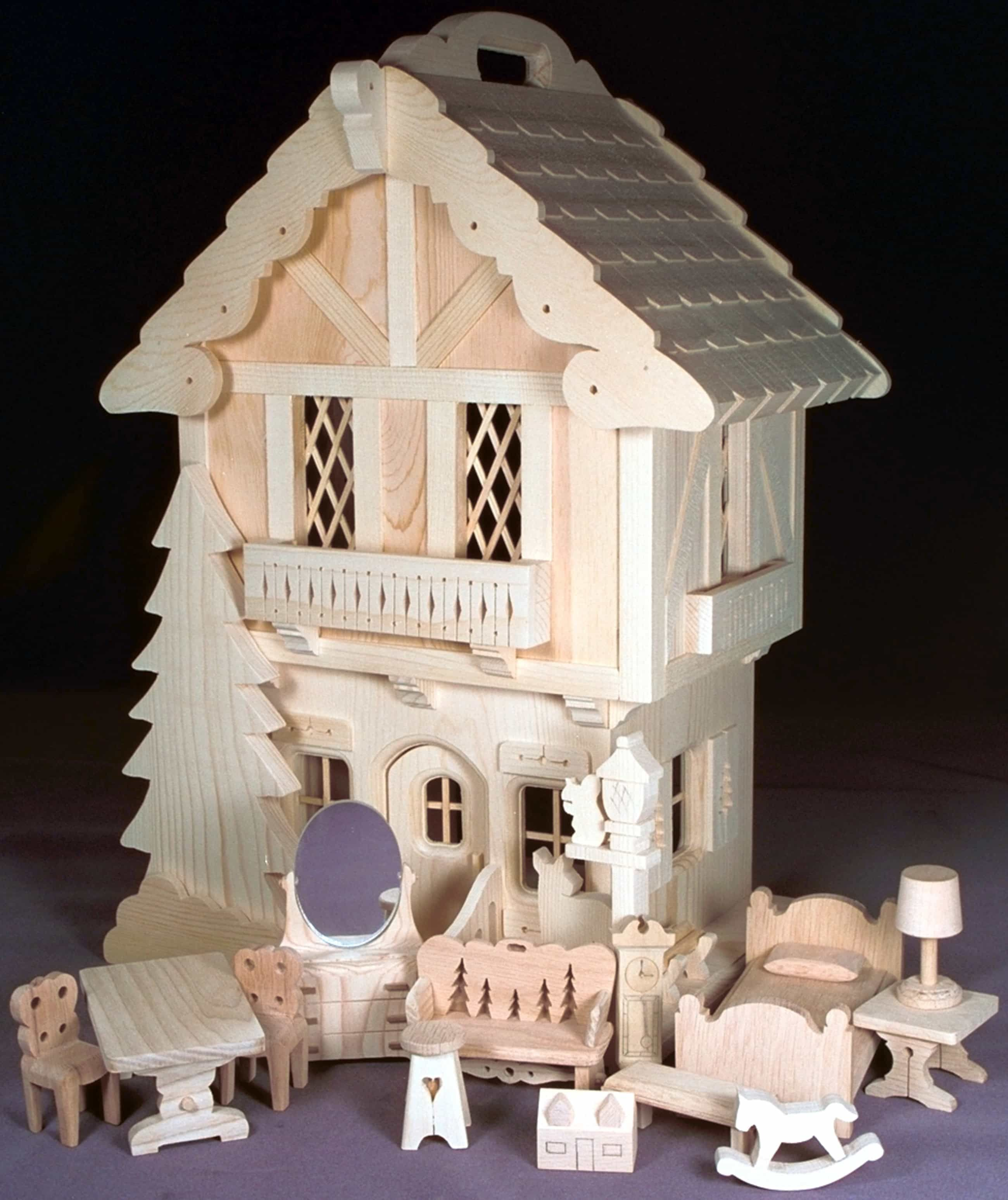 Elegant Good Woods 0276. Woodworking Plans Bargain, House With Furniture.