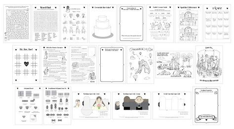 Printable Wedding Activity Book A5 Children Kids PDF Custom Personalised
