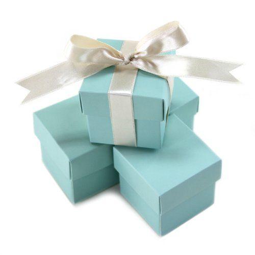 Amazon.com - Koyal 2-Piece 10-Pack Square Favor Boxes, Diamond Blue - Wedding Ceremony Accessories