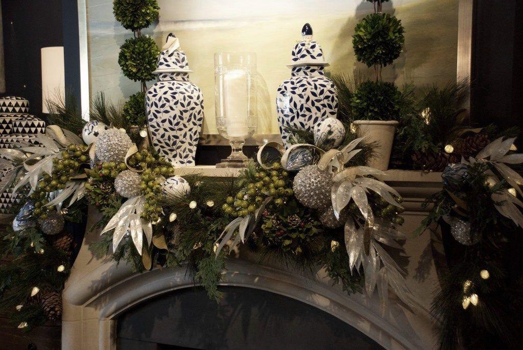 Decorazioni Albero Di Natale Blu : Holiday mantels looks to inspire holiday natale