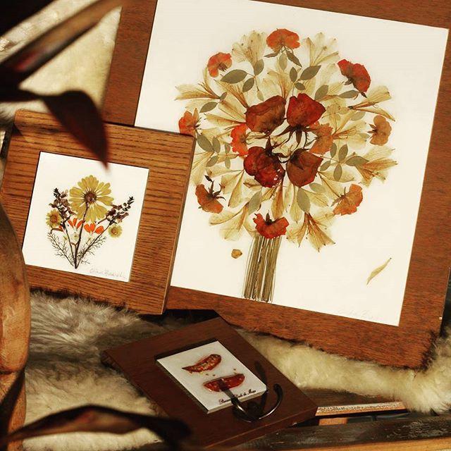 Nós temos novidade da Ekoart! Mais quadros lindos feitos com flores - flores secas
