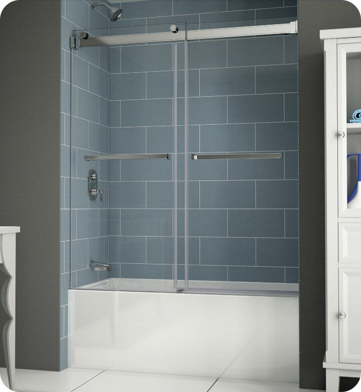 Fleurco NPT60-11-40 Gemini Plus Frameless Bypass Sliding Tub Doors ...
