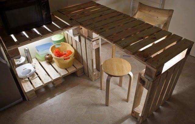 Decomania Kreatywne Wykorzystanie Palet Pallet Kitchen Pallet Projects Furniture Diy Pallet Furniture