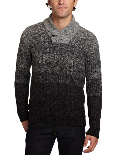 Calvin Klein Jeans Men S Shawl Collar Marl Sweater Charcoal Heather Small Mens Outfits Men Sweater Mens Jeans Fit