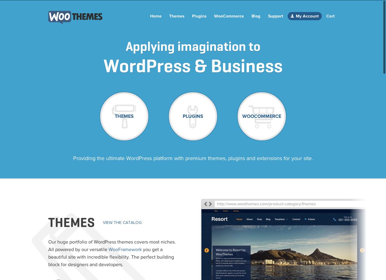WooThemes | Premium WordPress Themes >> with FlexSlider, a