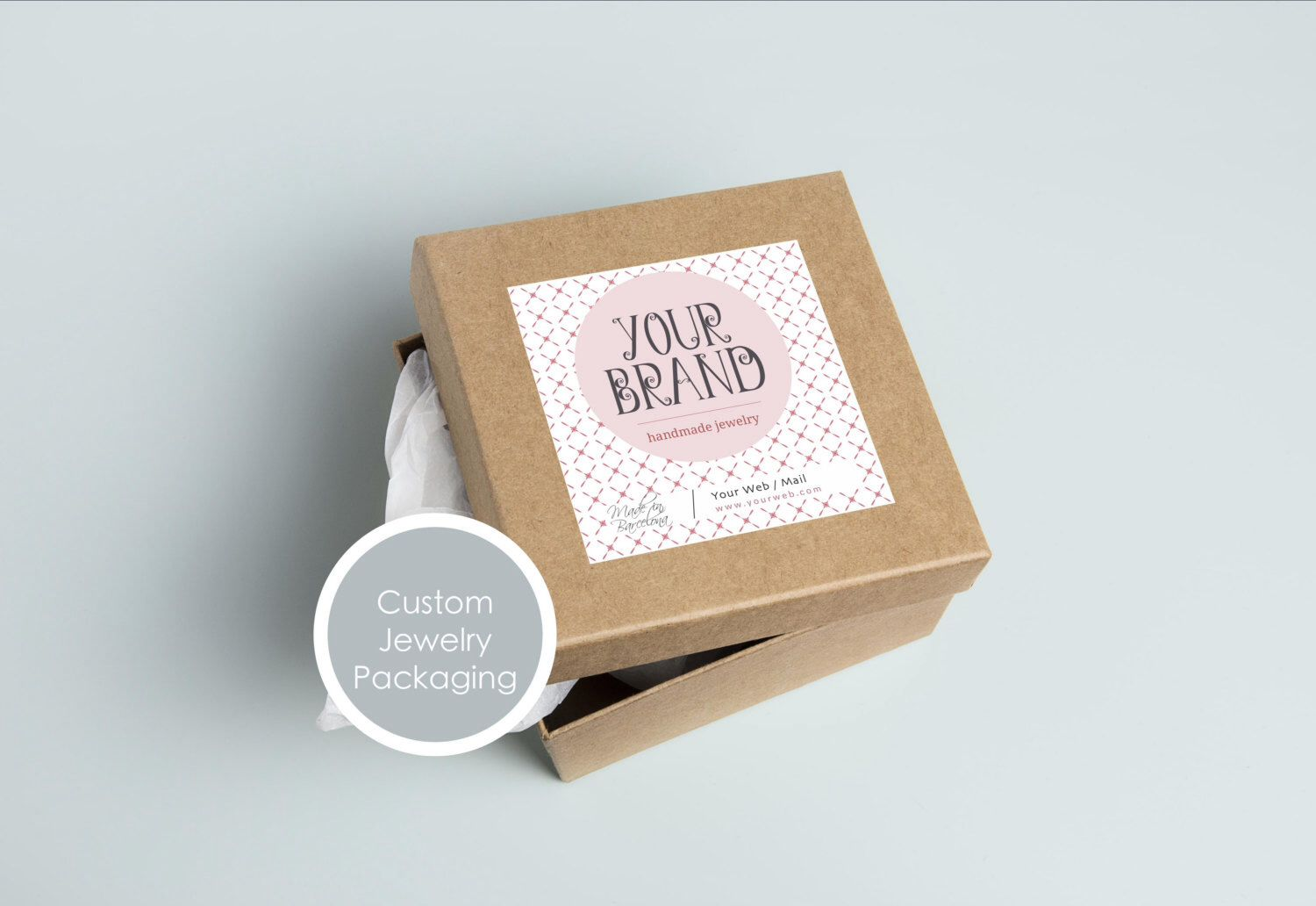 Custom jewelry packaging Custom jewelry label Custom jewelry