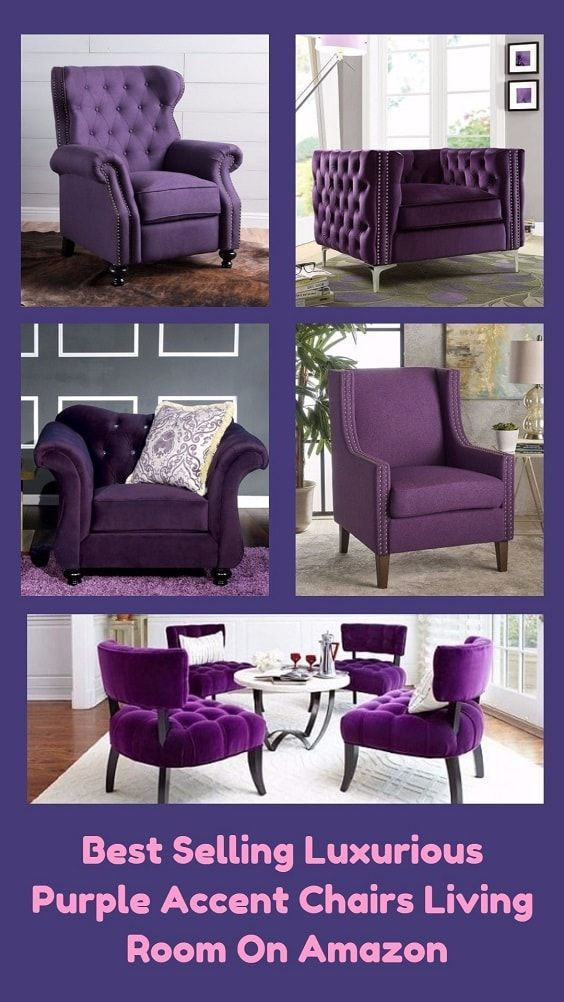 Best Selling Luxurious Purple Accent Chairs Living Room On 400 x 300