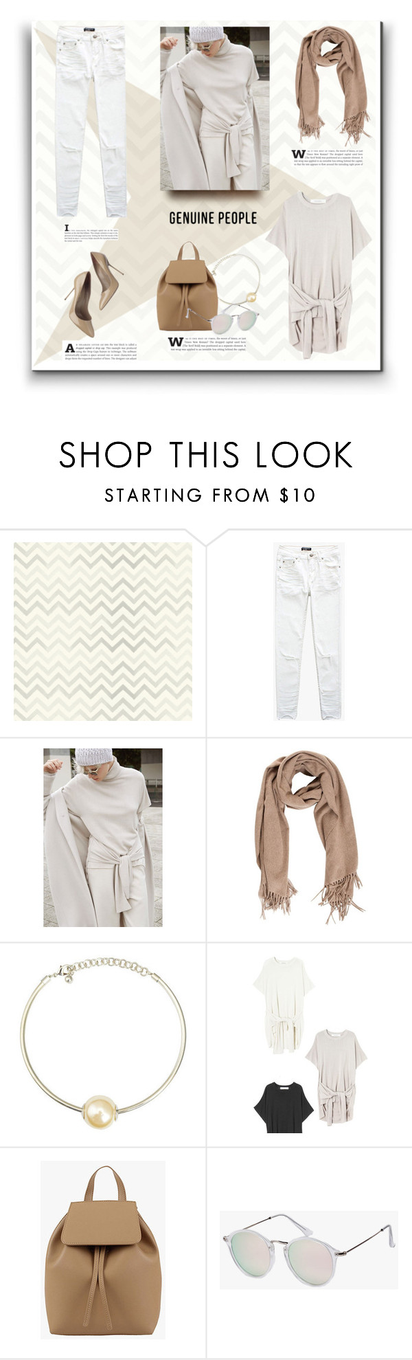 """""""White And Neutral Minimal Look"""" by vecastancic ❤ liked on Polyvore featuring Kreme Life and Sergio Rossi"""
