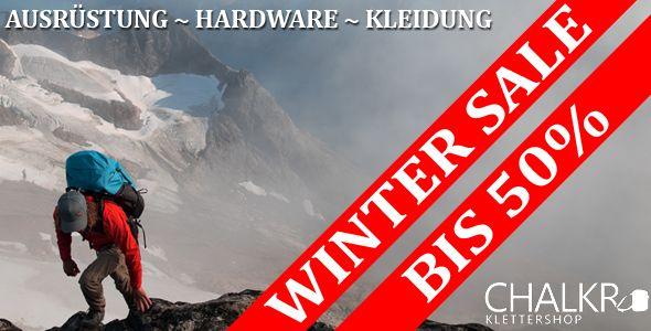 Kletterausrüstung Sale : Winter sale im klettershop chalkr bis rabatt auf