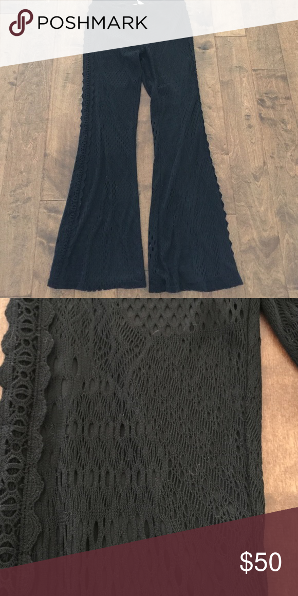 Urban Outfitters Lined Crochet Flares NWOT Urban Outfitters Lined Crochet Flares NWOT new never worn. Tag is cut to prevent store return. Size medium. Urban Outfitters Pants Boot Cut & Flare