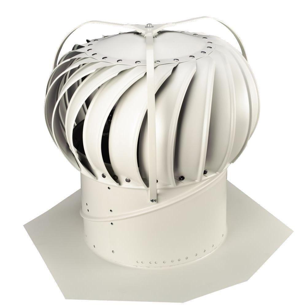 Whirlybird 12 In White Aluminum Externally Braced Wind Turbine Silver Wind Turbine Save Energy Home Depot