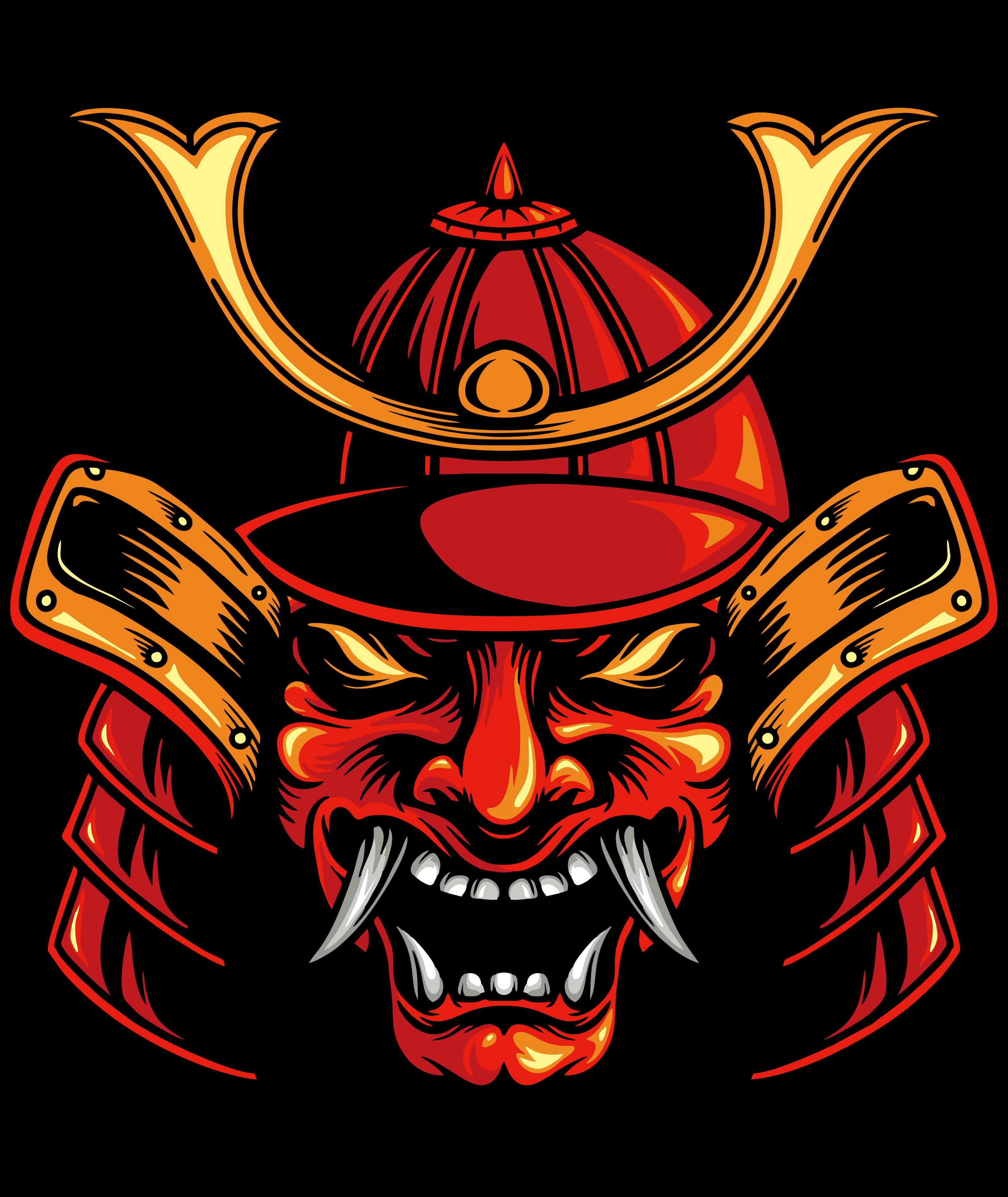 Traditional Mask Head Samurai Japan Samurai Samurai Helmet Samurai Armor