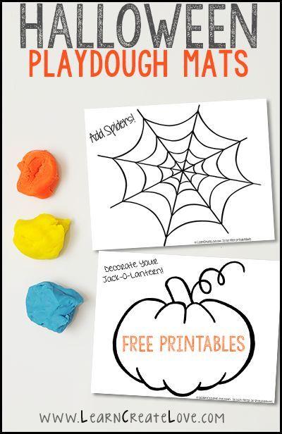 Printable Halloween Playdough Mats | Therapy Ideas | Pinterest ...