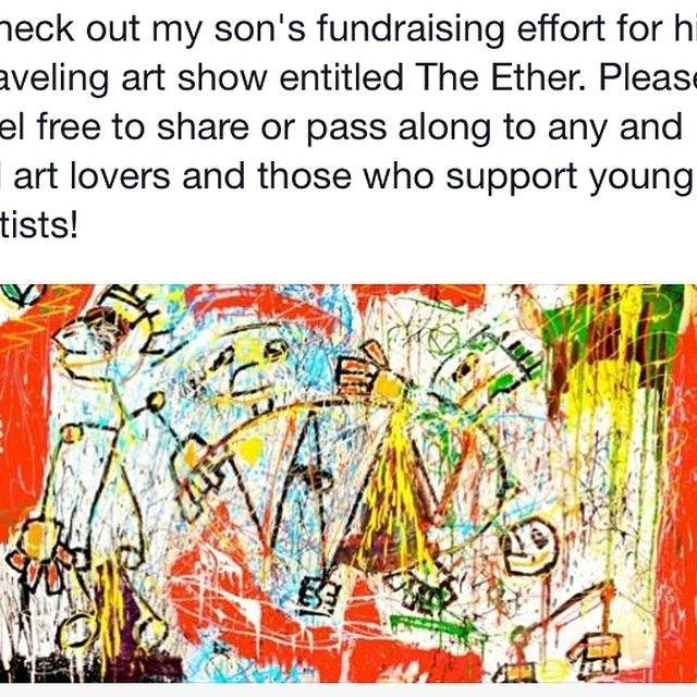 내 아들 했음을 확인;의 최신 벤처.  내 프로필에 링크를 체크 아웃!  #sagetheartist #gofundme #theEther #support 고객. Velicia Waymer