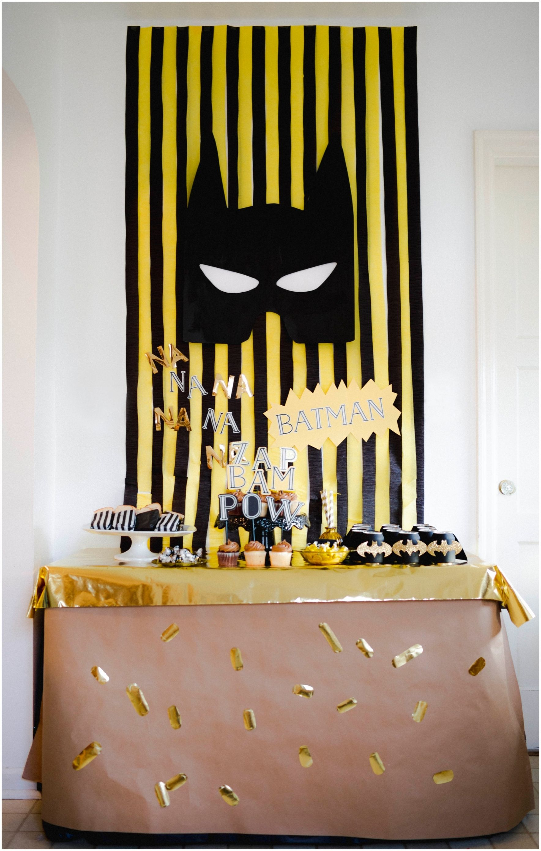Batman Party Yellow And Black Party Boys Birthday Party