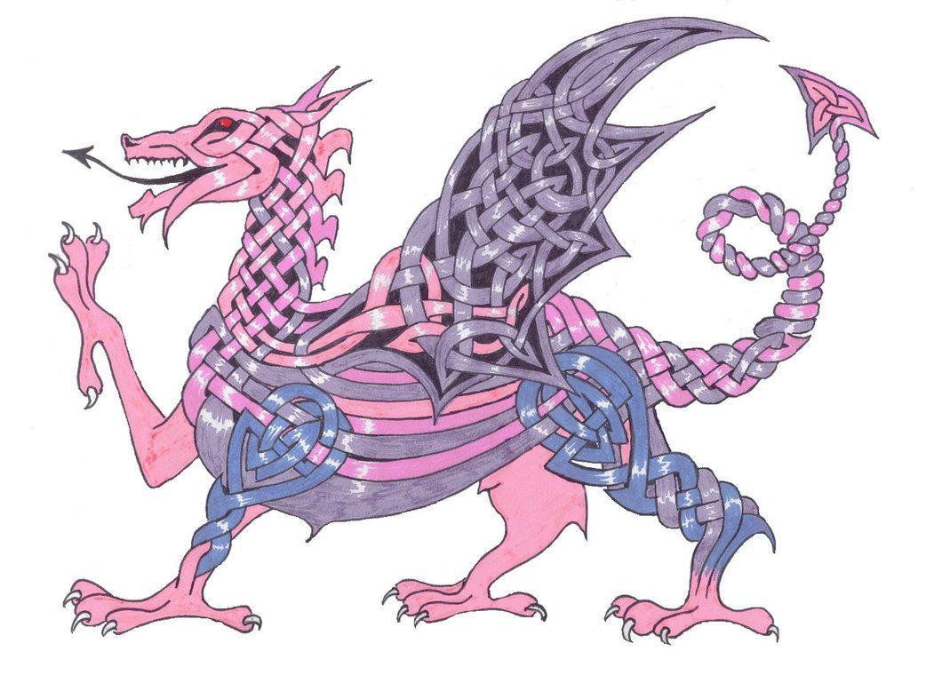 celtic cartoon welsh dragon template google search zentangle