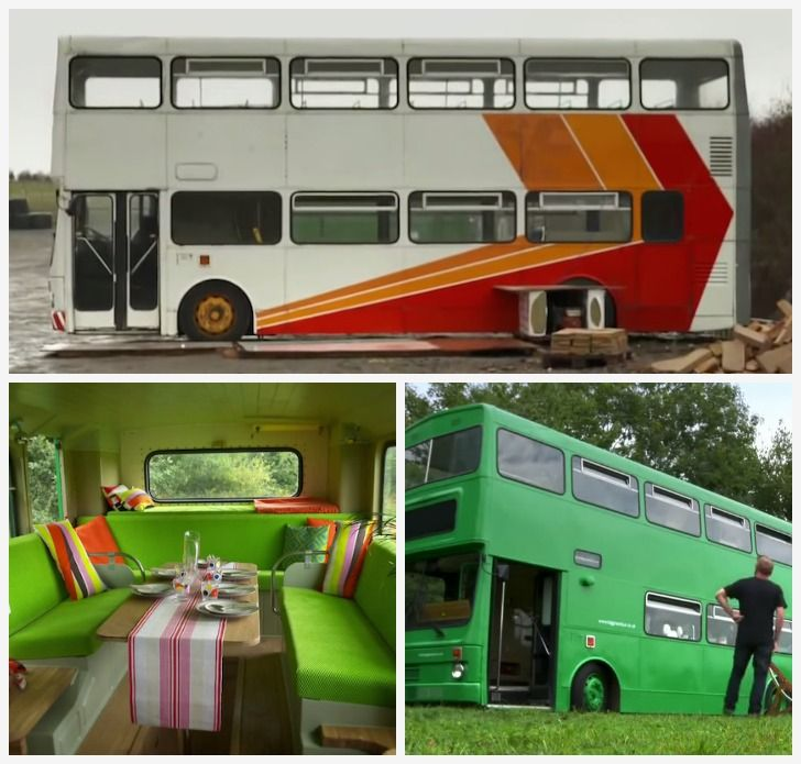 Amazing Dad Builds Clever Double Decker Bus Rv Double Decker Bus
