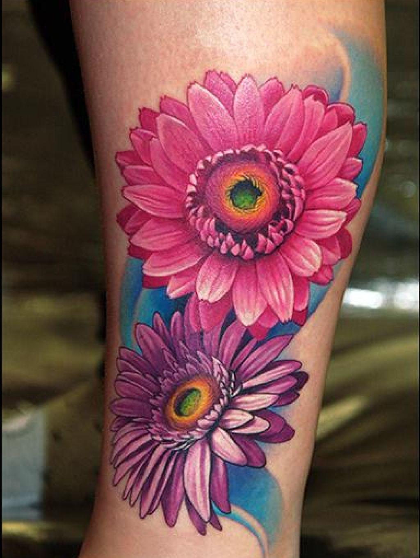 Image result for gerbera daisy tattoos Daisy tattoo