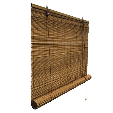 Bambusrollo 100 X 160cm In Dunkelbraun Fenster Sichtschutz Bambus