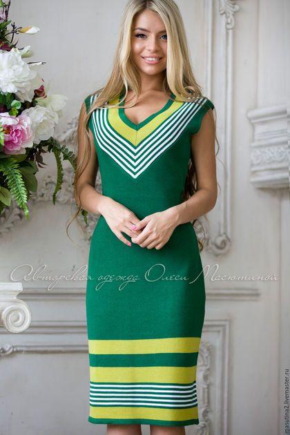 Купить или заказать Платье  Летняя зелень  в интернет-магазине на Ярмарке  Мастеров. a3ff3ce95b0