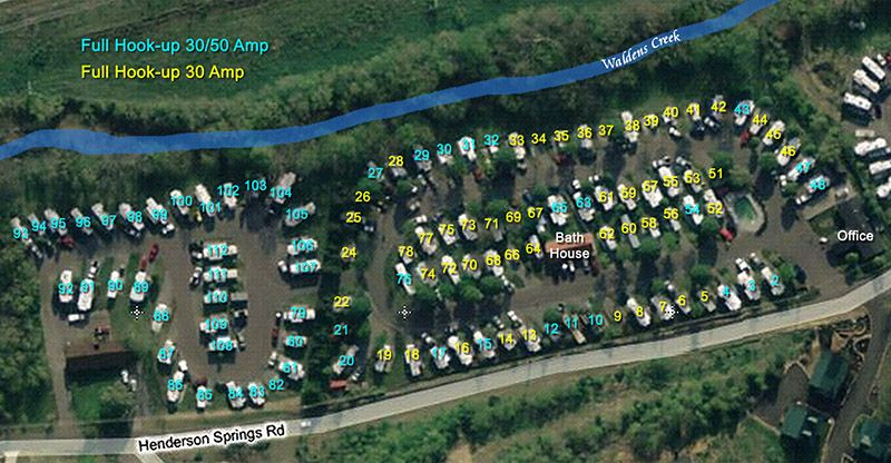 Birds Eye View Of Creekside Rv Park Campground In Pigeon Forge Rv Parks And Campgrounds Camping Photo Camping Destinations