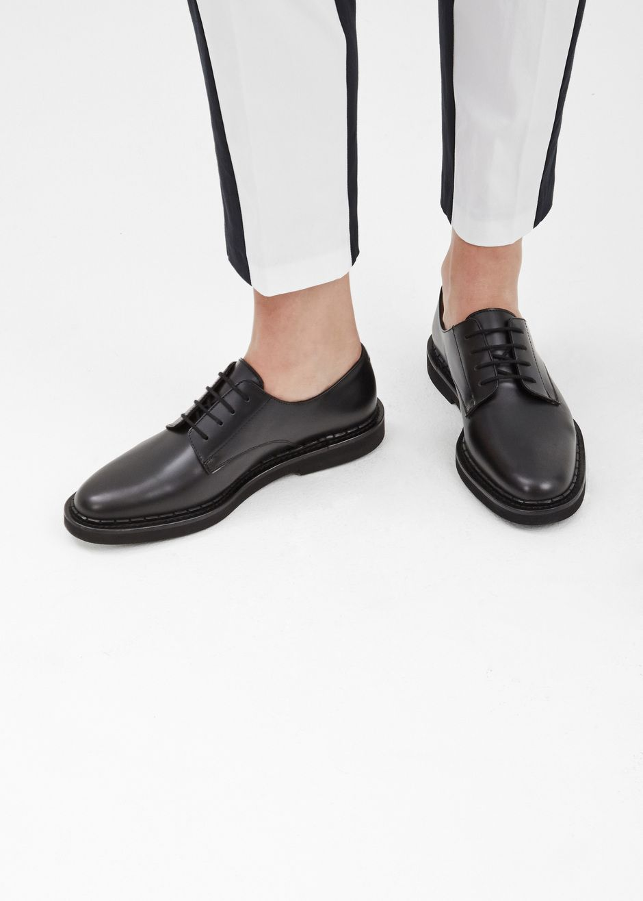 Woman by Common Projects Lace-up Cadet Derby (Black)
