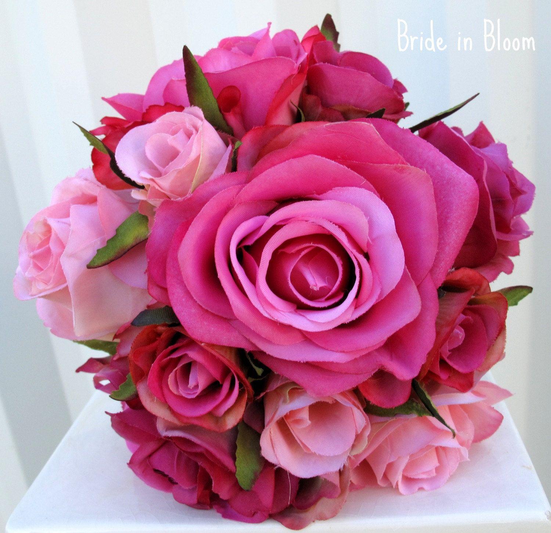 Rose bridal bouquets wedding bouquet pink rose bridesmaid rose bridal bouquets wedding bouquet pink rose bridesmaid bouquets bridal flowers dhlflorist Choice Image