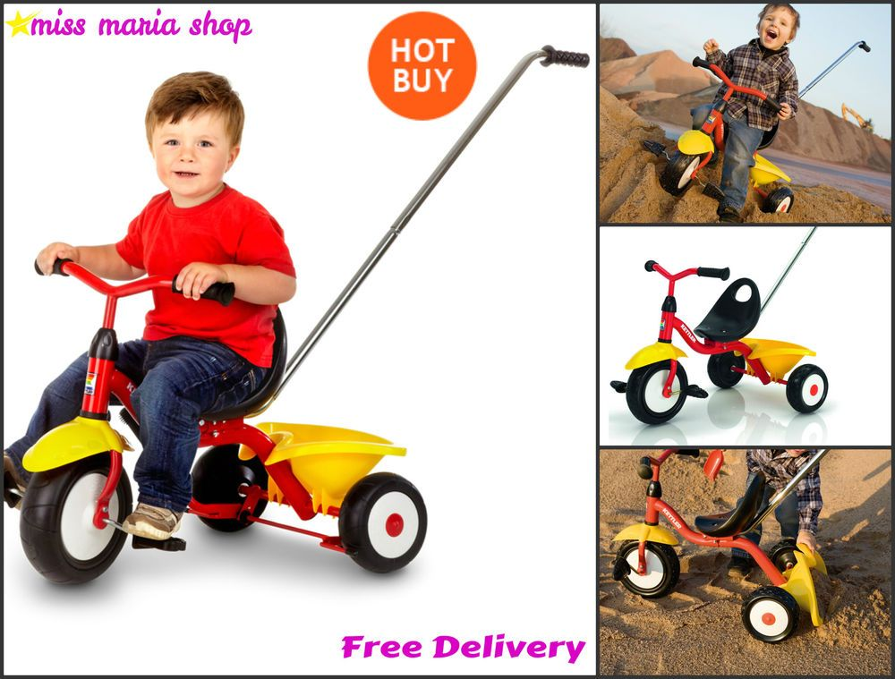 Toddlers Bike Tricycle Parent Handle Kettler Supertrike