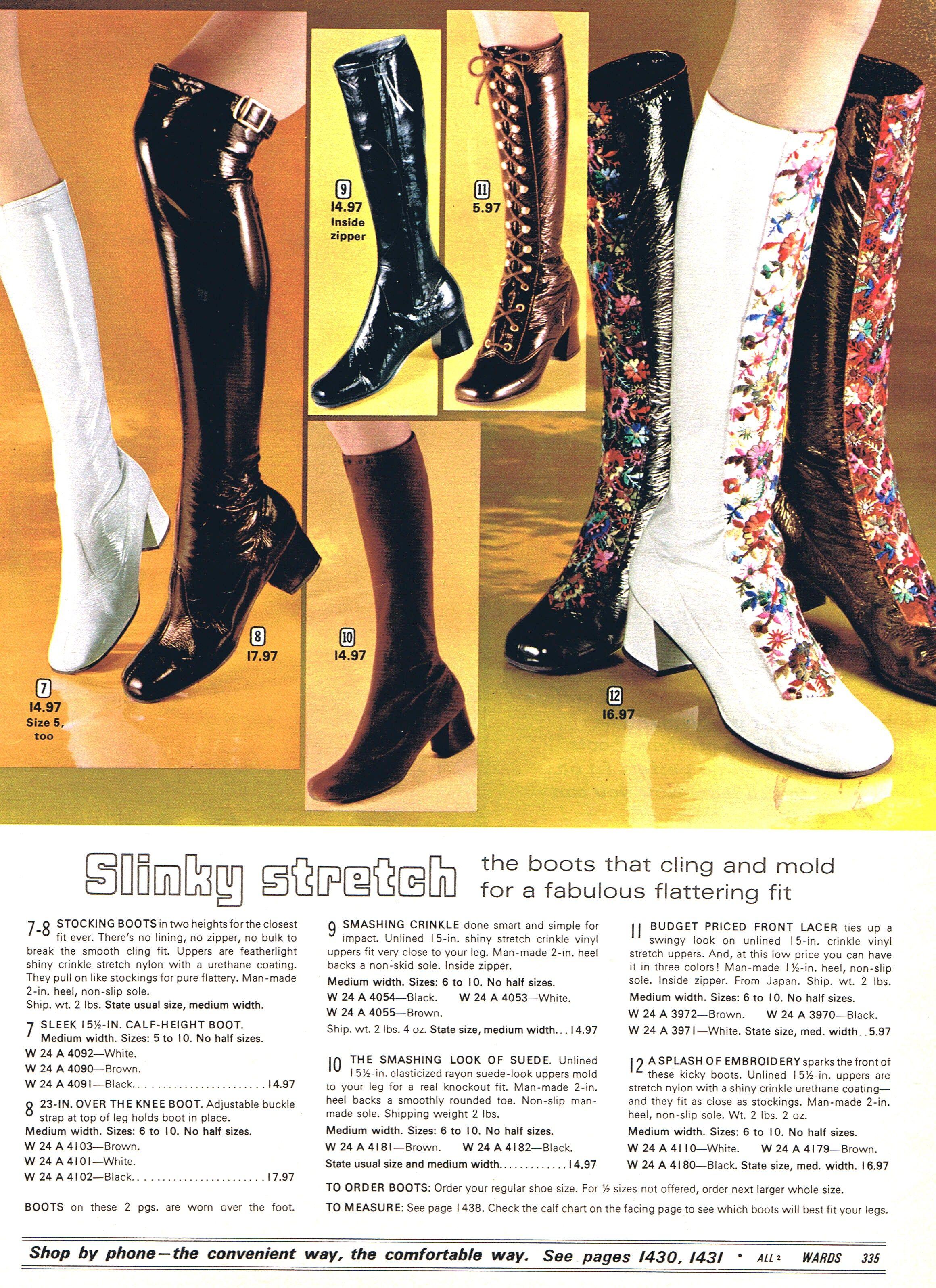 Slinky Boots Montgomery Ward 1971 70s Fashion Gogo Boots Fashion