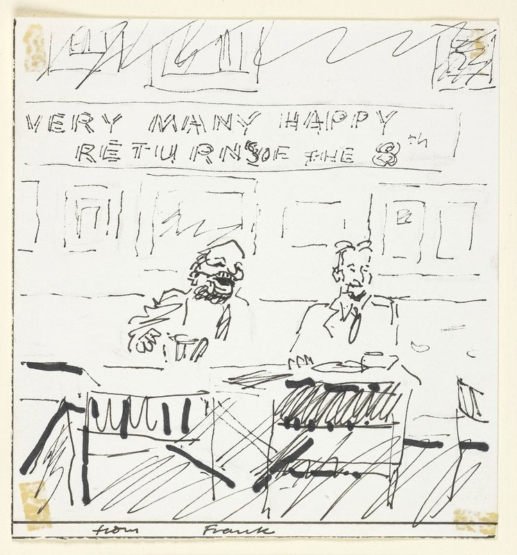Frank auerbach birthday card from frank auerbach to lucian freud frank auerbach birthday card from frank auerbach to lucian freud bookmarktalkfo Images