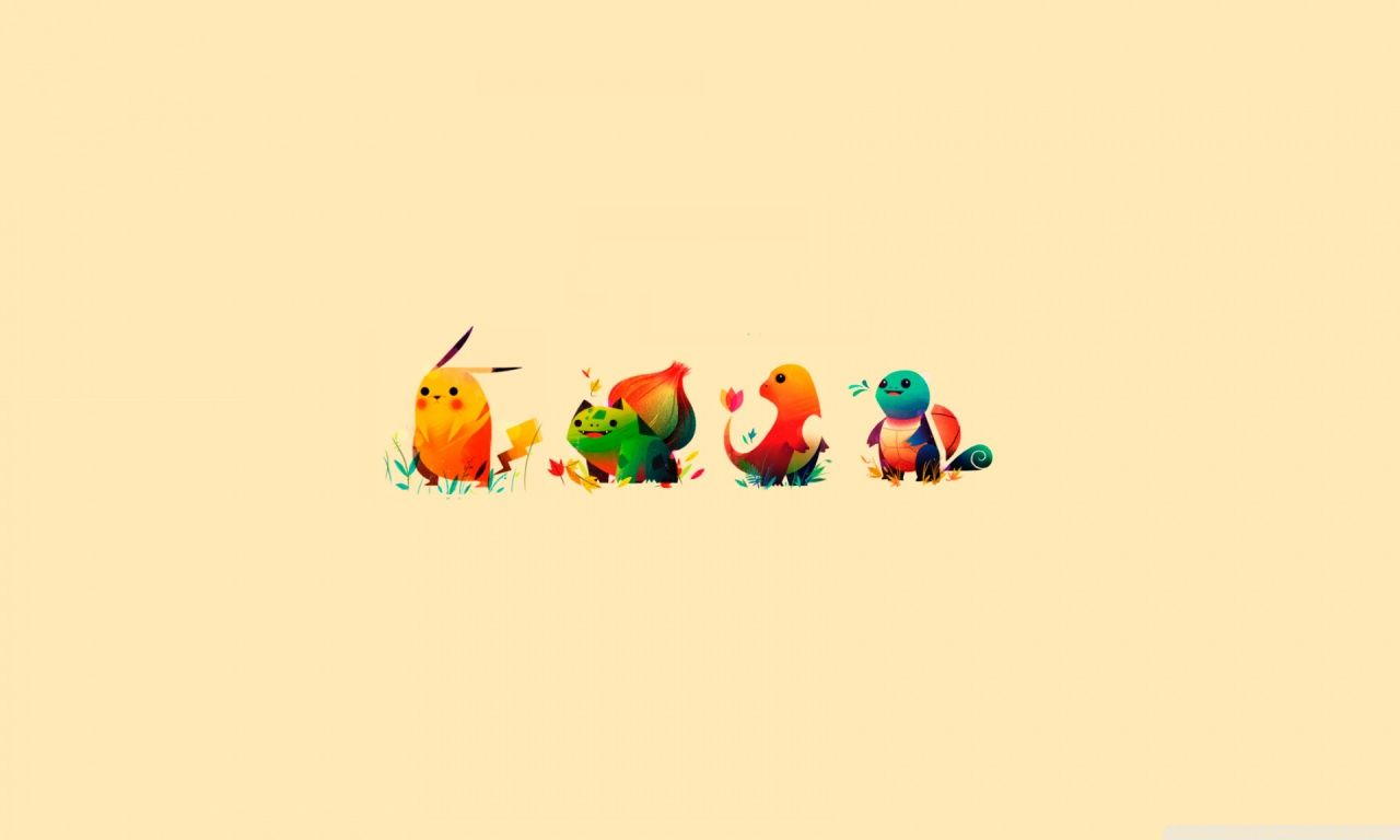 Pokemon Bulbasaur, Pikachu, Charmander, Squirtle HD desktop ...