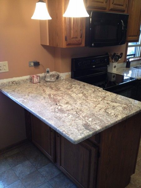 Galaxy White Granite On Oak Cabinets White Spring
