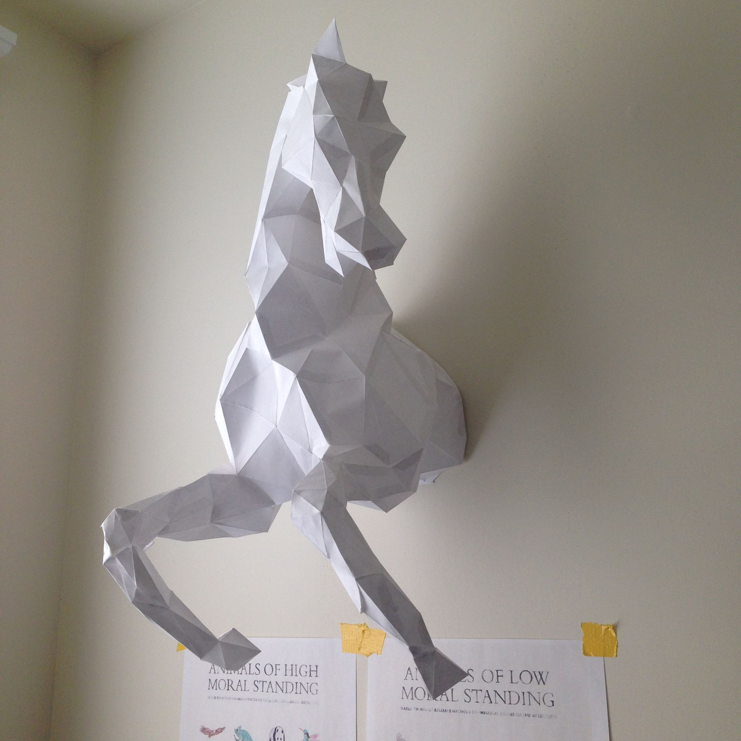 Wild Horse Head papercraft model DIY template For more info visit ...
