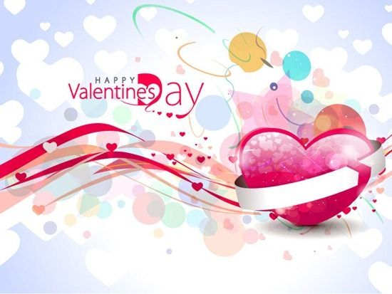 Abstract Valentine's Day Colorful Heart Design Background | Abstract | Vector Art