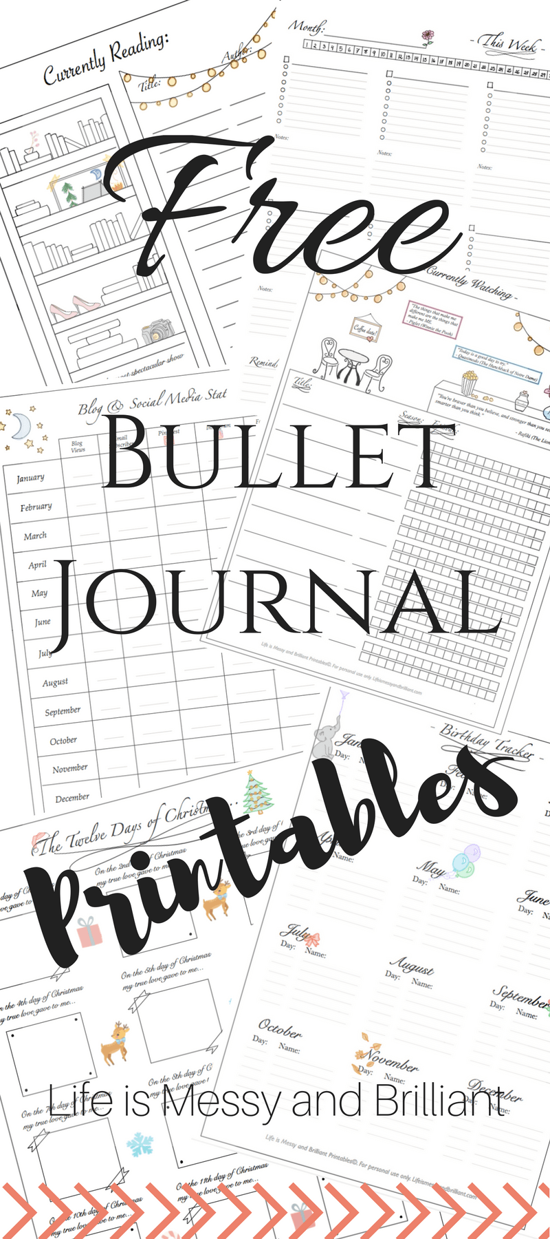 This is an image of Satisfactory Printable Bullet Journal Pages